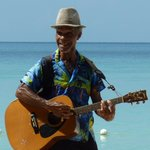 One of the excellent beach buskers