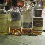 just 4 of the 400 whiskies available!