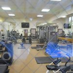 Gym near the indoor pool