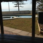 View from ;the pool overlooking Moreton Bay