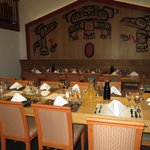 The dining room of the lodge