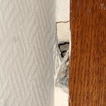 Hole in bedroom wall