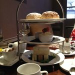 High tea, with warm scones & clotted cream - yum!