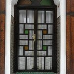 Leaded glass doors with interesting designs