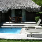 garden pool bungalow