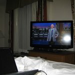 Big flat TV, and Dave Letterman still rocks!