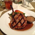 Pork Chop with veggies and applesauce in three course special