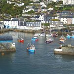 View of Mevagissey from a short walk down the road
