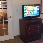Personal TV in Bedroom with Privacy Door