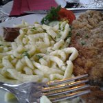 Many traditional items to choose but I decided on the weiner schnitzel. I was very pleased with