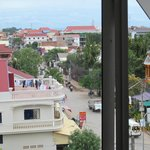 Wat Bo Rd. from our balcony window