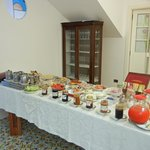 Breakfast buffet that included homemade breads, marmalades, cheese & olive oils.
