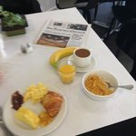 Cereal, eggs, fruit, amazing coffee...breakfast at the Acqua