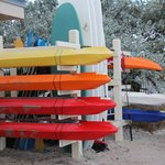 Watersports rental area