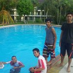 Swimming Pool with my team mates :)