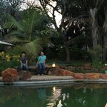 Our kids enjoying the pond...