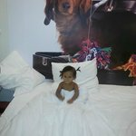 My little one loved the big beds at Qbic Amsterdam
