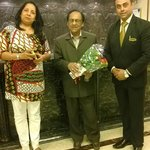 Mr Ghulam ali in Hotel Lobby