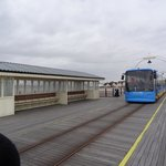 Tram that runs along Pier