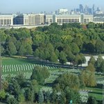 View of Fort Snelling National Cemetery from 13th floor
