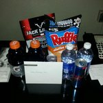 Hangover cure welcome basket!