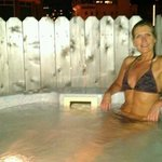 Our private hot tub on the rooftop deck, just outside our room. (Heaven!)
