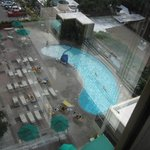 Pool and Bar from Glass Elevator
