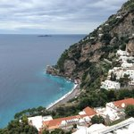 View from balcony over Positano