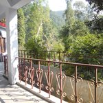 Our little balcony and walkway to the Ganga