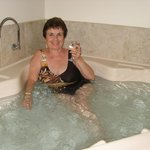Relaxing spa with a glass of bubbly really did the trick
