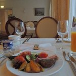 A  great breakfast at Aurora Hotel, Kharkiv