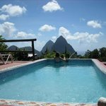 Pool view of Pitons