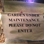 garden under maintainence for two days and not saw any work.it was just closed i guess