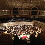 "The Chicago Symphony Orchestra and Chorus preparing to perform Brittens ""War Requiem"""