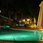Paradise pool at night