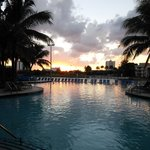Nice sundown at the pool area