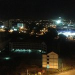 Ipoh city center at night, view from room