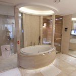 Amazing bathroom with sauna, steam room and great spa bath