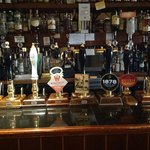 real ale from hand pumps