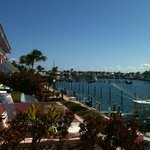 View from the balcony to the marina