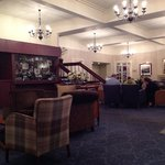 Lounge - reception area, warm and comfortable with coal and log fire