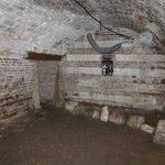 Part of the restored cellar under the farmhouse.