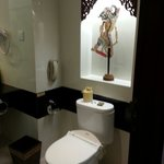 Wayang in the bathroom