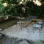 Villa Emilia garden seating area