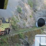 Plenty of tunnels on the fabulous scenic train ride