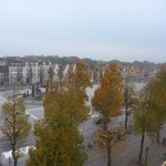 't Zand square from hotel terrace