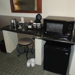Coffee nook with fridge and microwave