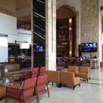 Elegant bar and lobby at the J. W. Marriott