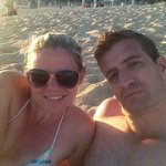Relaxing on the beach at RIU Palace