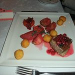 Main course - duck with caramelised fruits